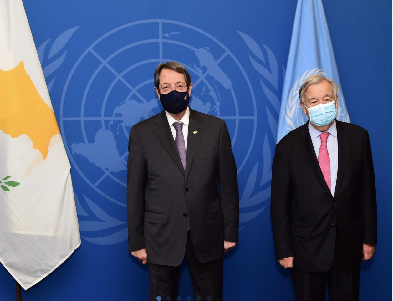 Kipar: Predsednik Anastasiades se sastao sa generalnim sekretarom UN Guterresom