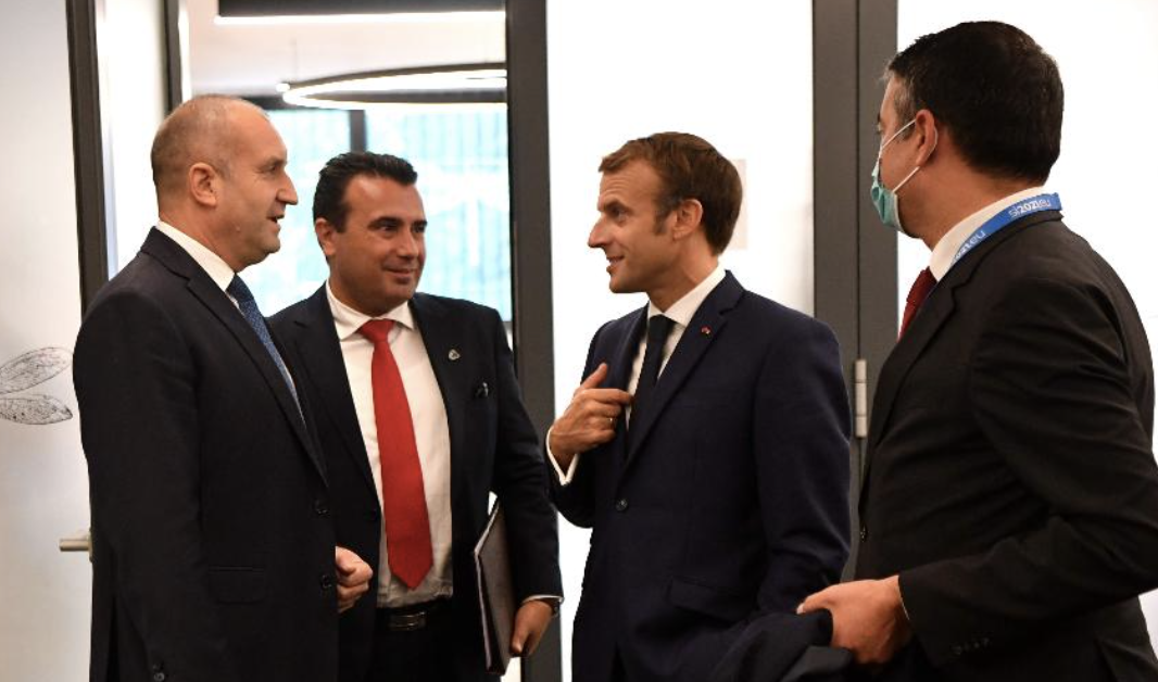 Sastanak Zaeva, Radeva, Merkel i Macrona