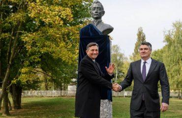 Predsednik Slovenije Pahor i hrvatski predsednik Milanović u Ljubljani otkrili spomenik Ljudevitu Gaju